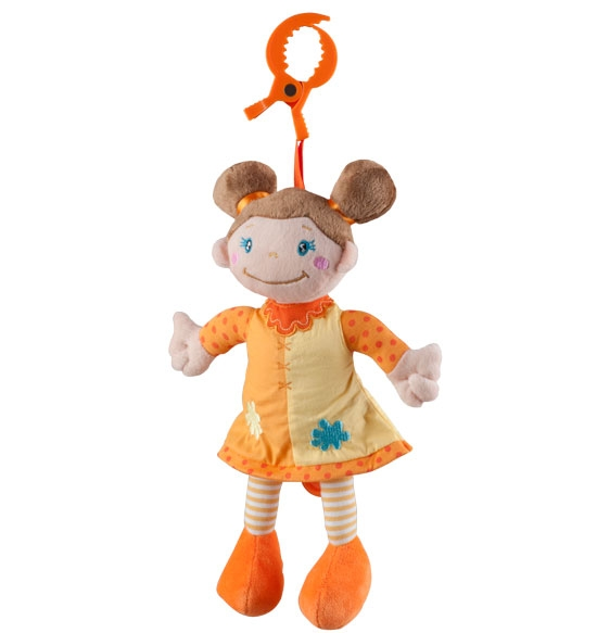 BabyOno Závěsná hrací hračka HOLKA hnědovláska