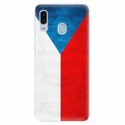 Silikonové pouzdro iSaprio - Czech Flag - Samsung Galaxy A30