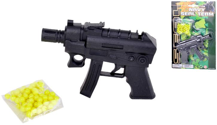 Pistole + kuličky 12 cm na kartě Kuličkovka Set