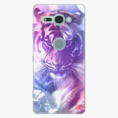 Plastový kryt iSaprio - Purple Tiger - Sony Xperia XZ2 Compact
