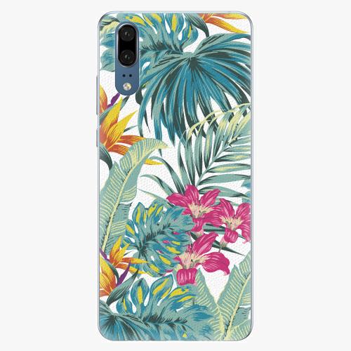 Silikonové pouzdro iSaprio - Tropical White 03 - Huawei P20