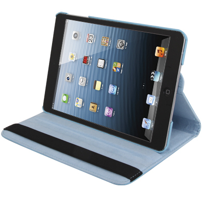 Kožený kryt / pouzdro Smart Cover Rotation pro iPad Mini 1 / 2 / 3 modrý