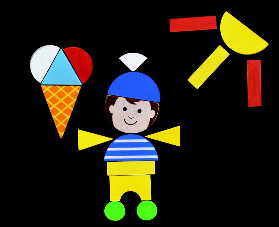 DETOA Puzzle děti magnetické * DŘEVĚNÉ HRAČKY *