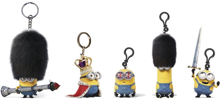 ADC Figurka Mimoňové (Minions) s přívěskem 3D na klíče Britská kolekce 5 druhů