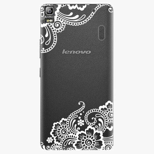 Plastový kryt iSaprio - White Lace 02 - Lenovo A7000