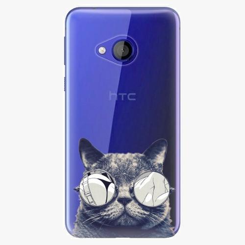 Plastový kryt iSaprio - Crazy Cat 01 - HTC U Play