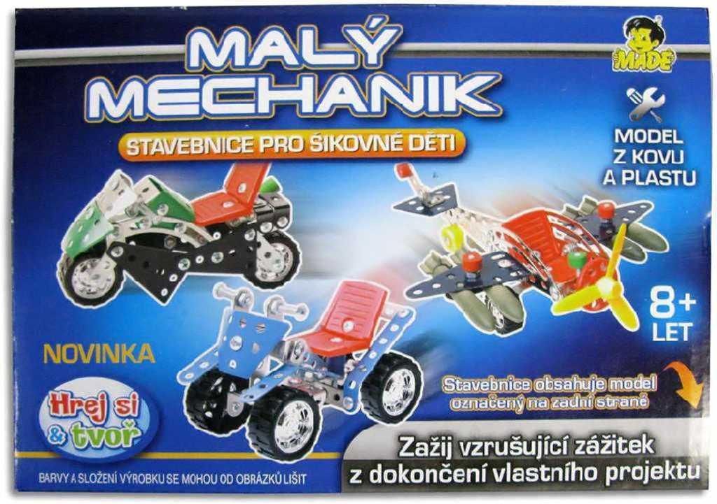 Mechanik malý dopravní prostředky *Stavebnice typu Merkur z kovu a plastu*