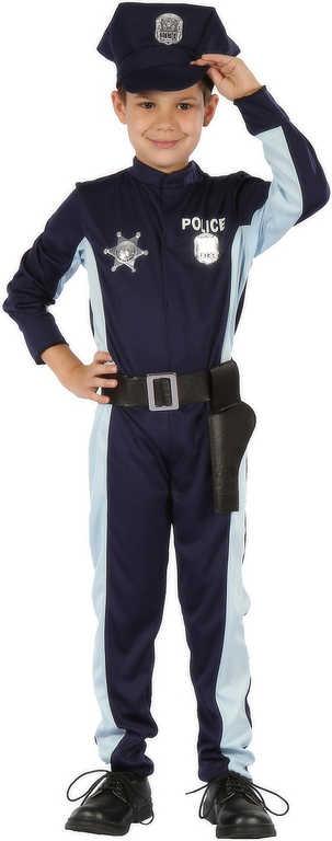 KARNEVAL Šaty malý Policista vel.M (120-130 cm) 5-9 let KOSTÝM