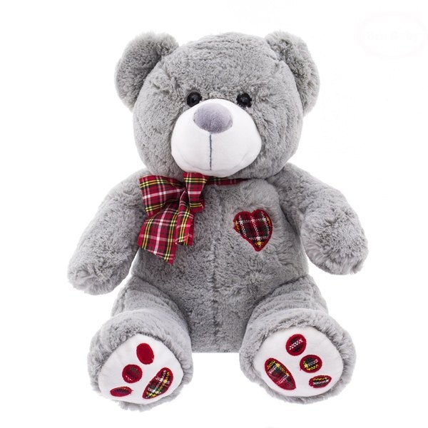 Plyšový medvídek 43cm - šedý