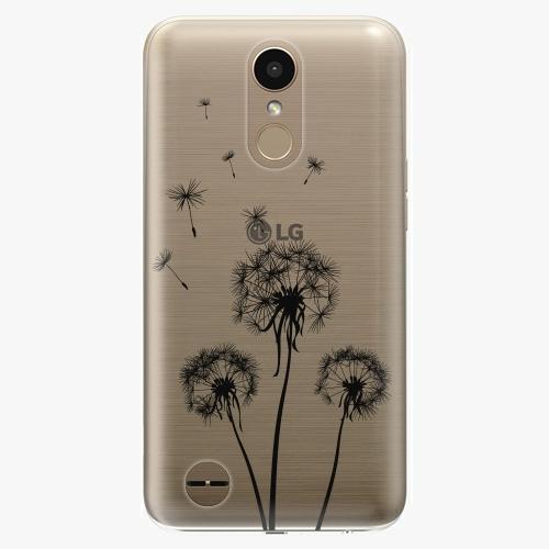 Plastový kryt iSaprio - Three Dandelions - black - LG K10 2017