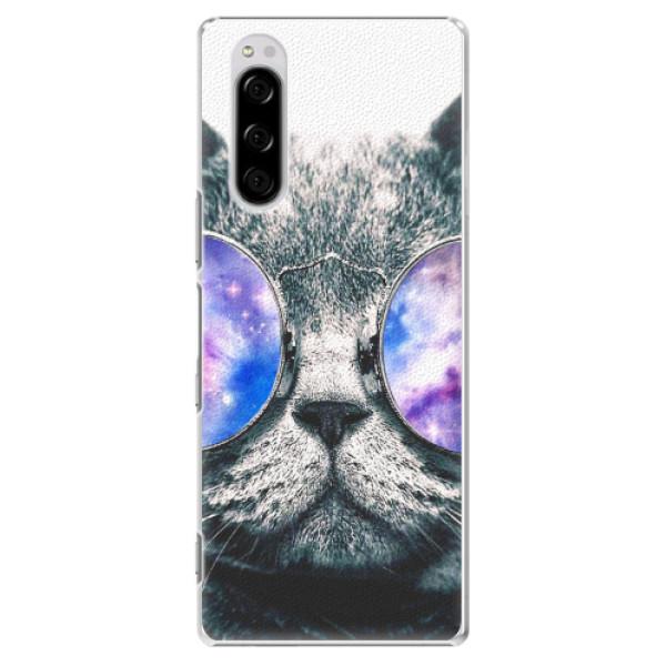 Plastové pouzdro iSaprio - Galaxy Cat - Sony Xperia 5