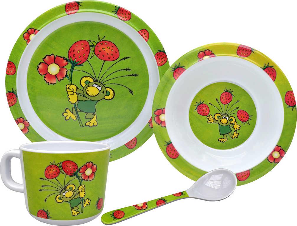MORAVSKÁ ÚSTŘEDNA Dětské nádobí set 4ks Rákosníček