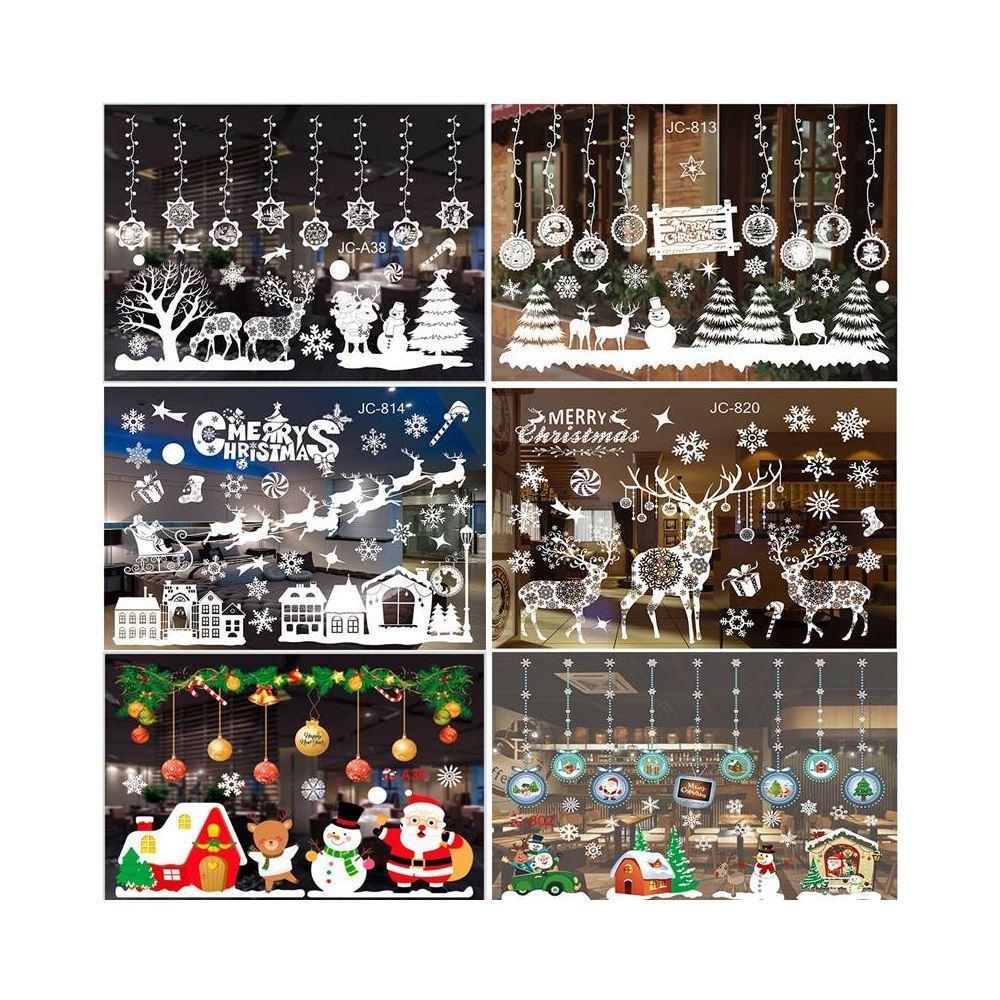 Vánoční nálepky na okno - sobí spřežení