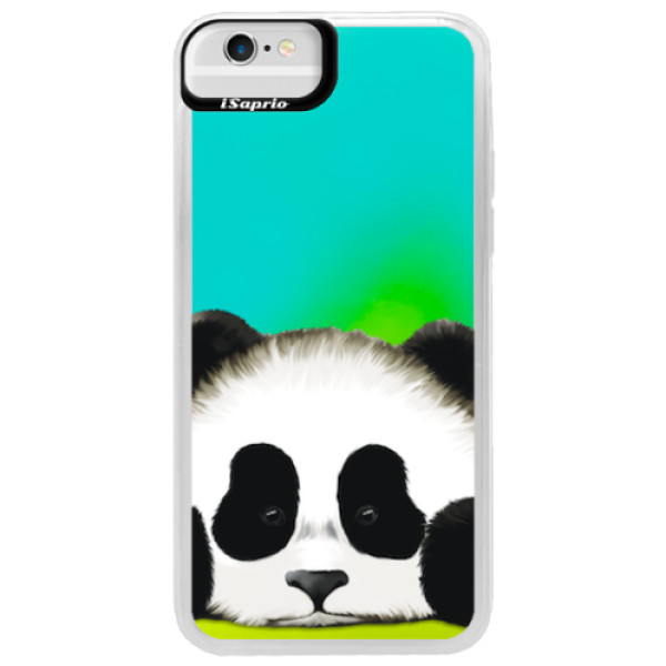 Neonové pouzdro Blue iSaprio - Sad Panda - iPhone 6/6S