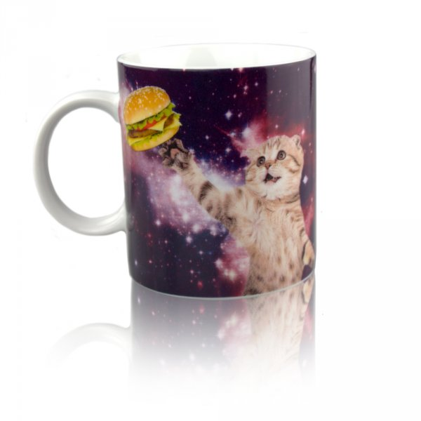 Hrnek - Vesmírná kočička