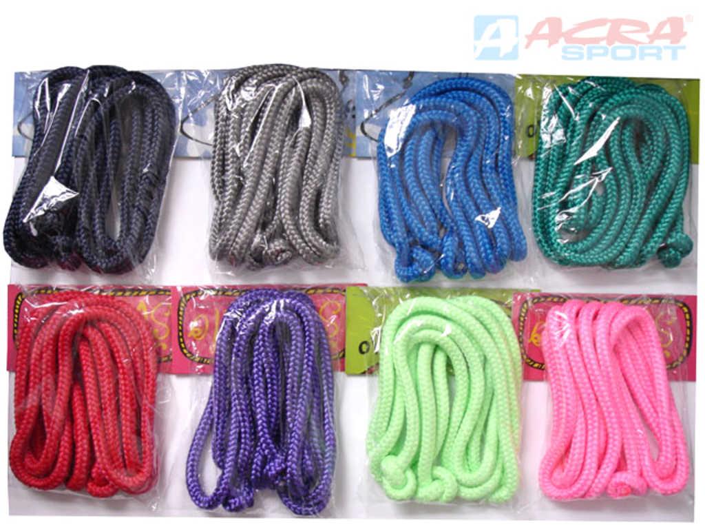 ACRA Švihadlo gymnastické 2,8m různé barvy v sáčku