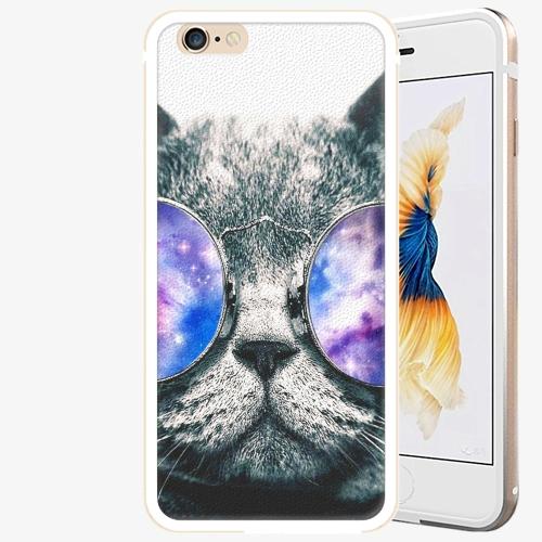 Plastový kryt iSaprio - Galaxy Cat - iPhone 6 Plus/6S Plus - Gold
