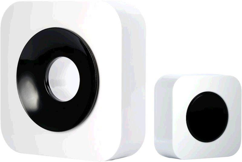 Zvonek Optex 990227 Bezdrátový designový barevný zvonek bílá/černá s dlouhým dosahem