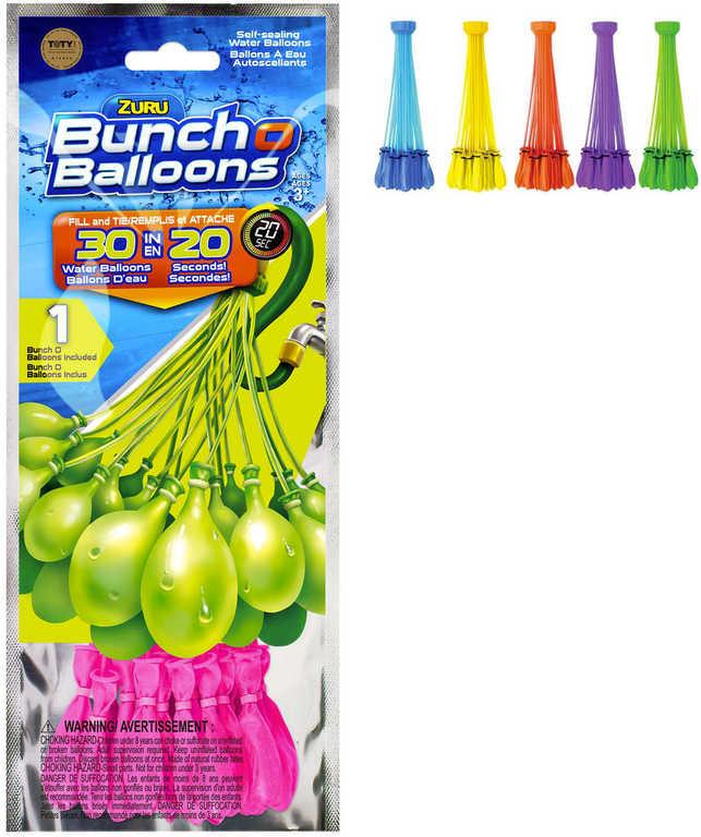 ZURU Balónky malé vodní bomby set 30ks 1 svazek různé barvy