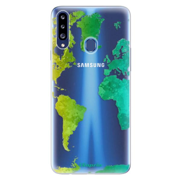 Odolné silikonové pouzdro iSaprio - Cold Map - Samsung Galaxy A20s