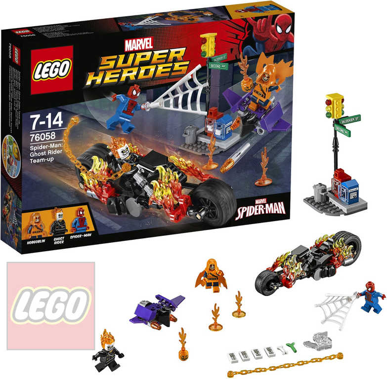 LEGO SUPER HEROES Spiderman: Ghost Rider vstupuje do týmu 76058