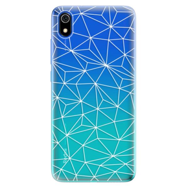 Odolné silikonové pouzdro iSaprio - Abstract Triangles 03 - white - Xiaomi Redmi 7A