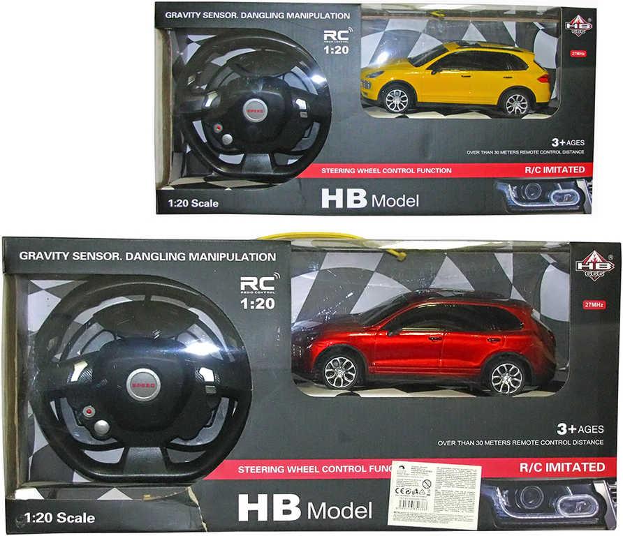 RC Auto HB666 CM04 na dálkové ovládání volant 27MHz na baterie 2 barvy