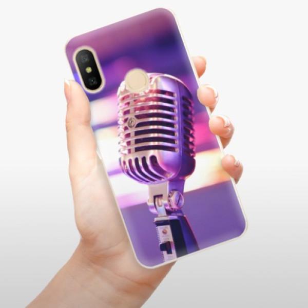 Odolné silikonové pouzdro iSaprio - Vintage Microphone - Xiaomi Mi A2 Lite