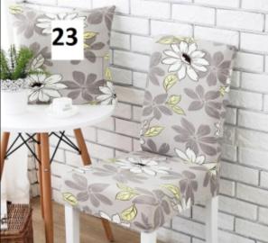 Elastický potah na židli - šedý