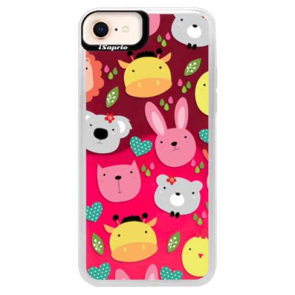 Neonové pouzdro Pink iSaprio - Animals 01 - iPhone 8