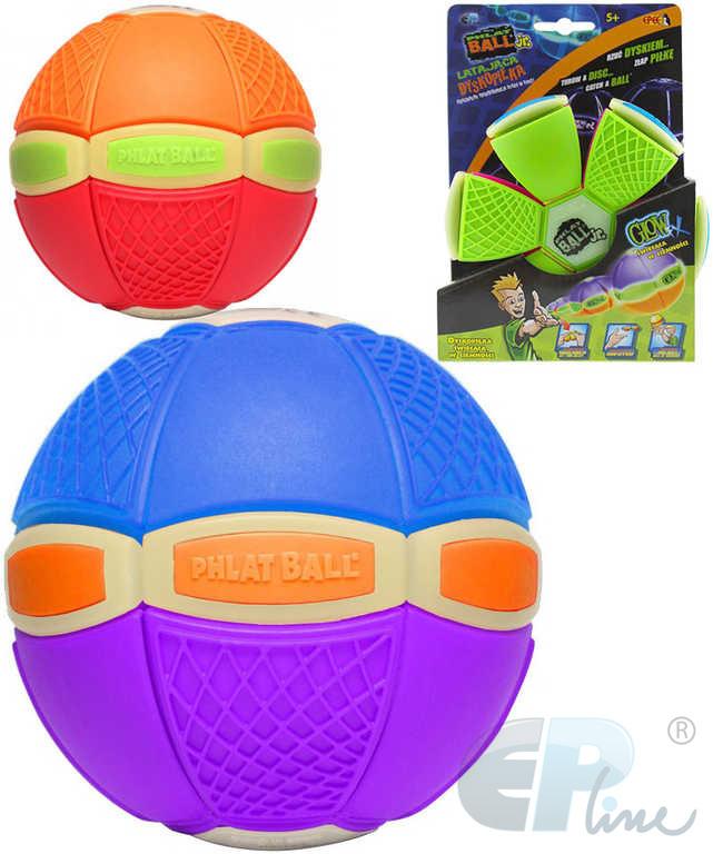 EP Line Phlat Ball disk 20cm plastový měnící se v míč svítící ve tmě 2v1