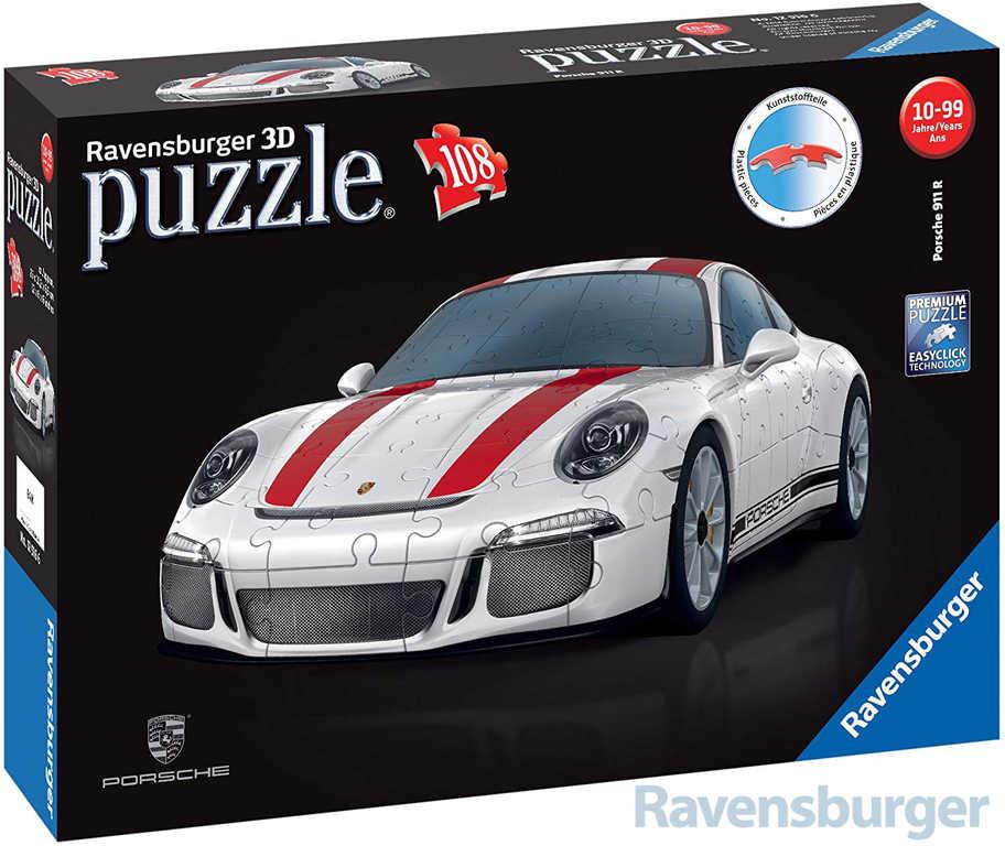 RAVENSBURGER Puzzle 3D Auto model Porsche 911 R skládačka v krabici