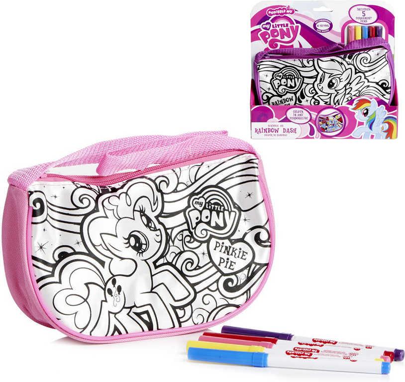 Taštička vybarvovací My Little Pony kreativní set s 5 fixami 2 druhy