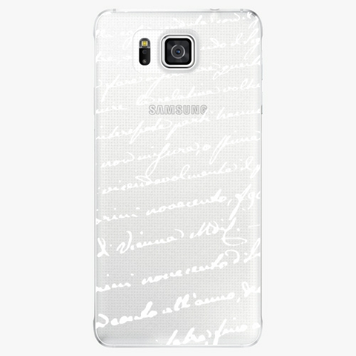 Plastový kryt iSaprio - Handwiting 01 - white - Samsung Galaxy Alpha