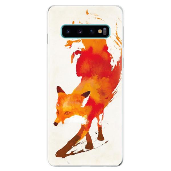 Odolné silikonové pouzdro iSaprio - Fast Fox - Samsung Galaxy S10