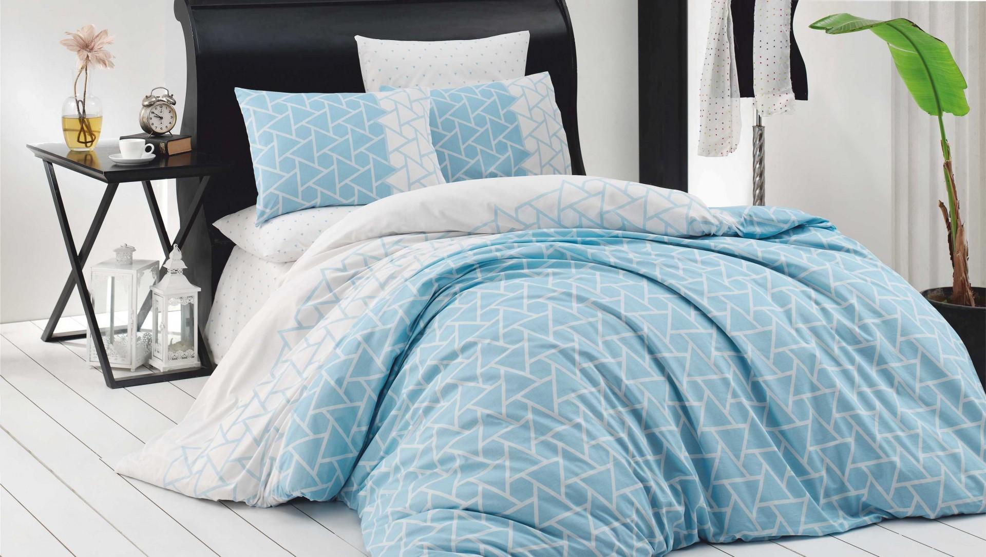 Povlečení francouzské bavlna 220x200,70x90 Prizma, Výběr zapínání: - zipový uzávěr