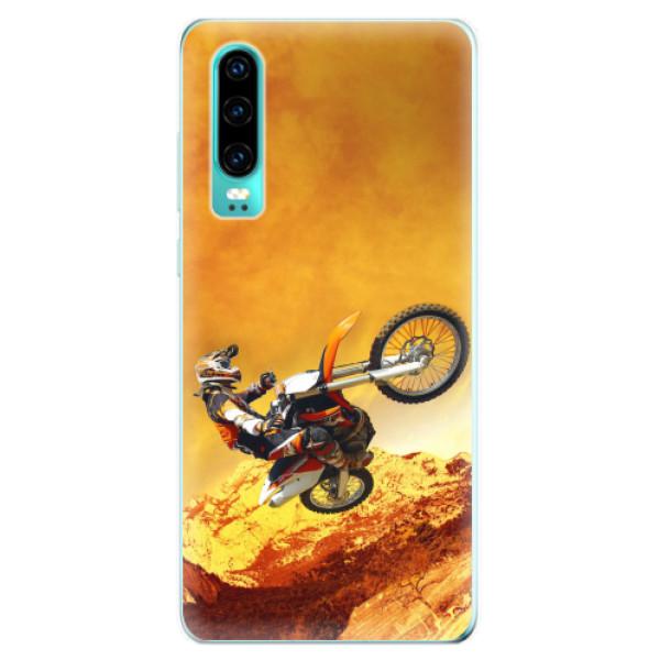 Odolné silikonové pouzdro iSaprio - Motocross - Huawei P30