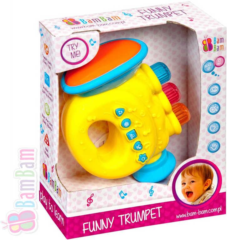 ET BAM BAM Trumpeta zábavná plastová s melodiemi pro miminko