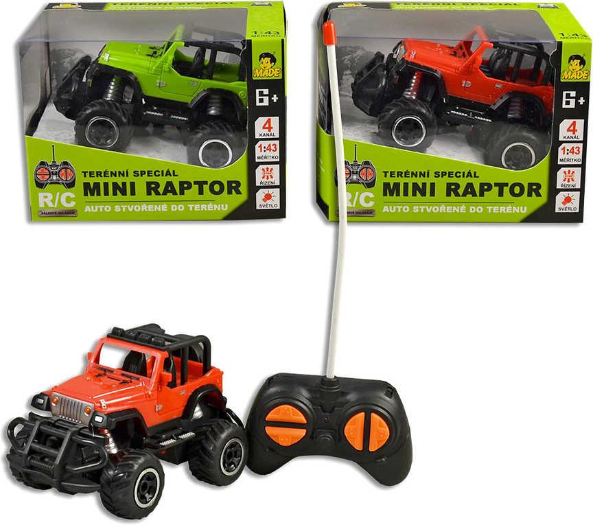 RC Auto džíp mini 14cm off-road na dálkové ovládání na baterie 2 barvy