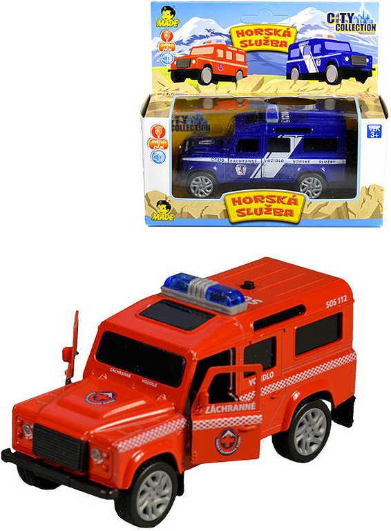 Auto City collection záchranářské horská služba 12 cm na baterie - 2 barvy