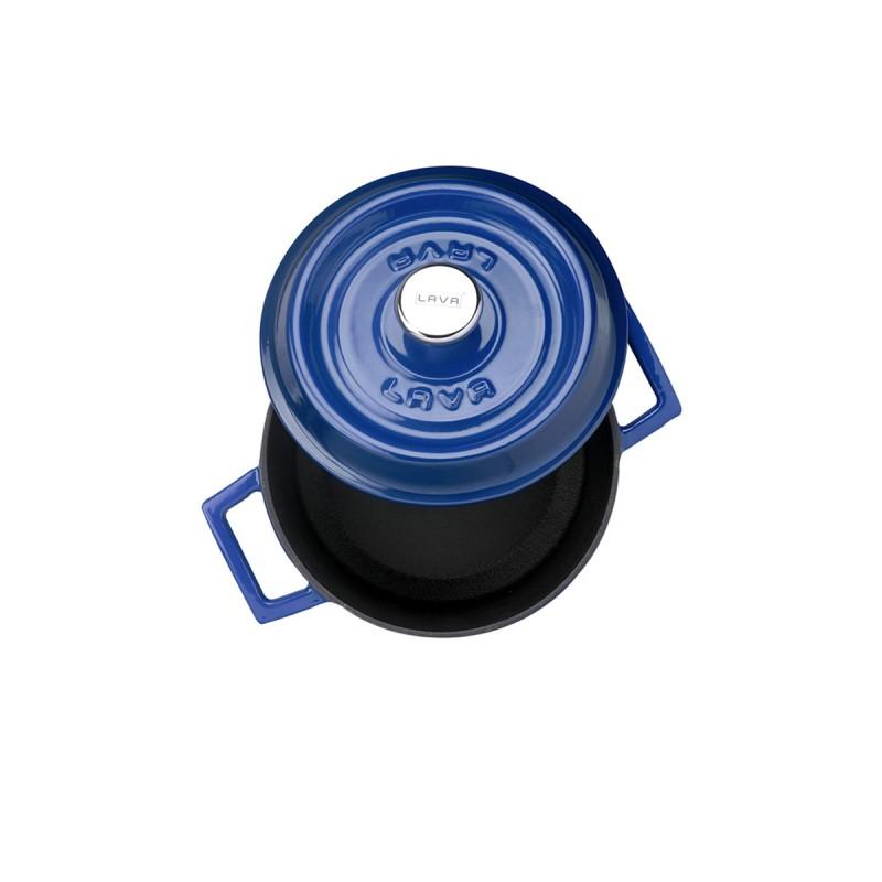 Litinový hrnec kulatý 18cm - modrý