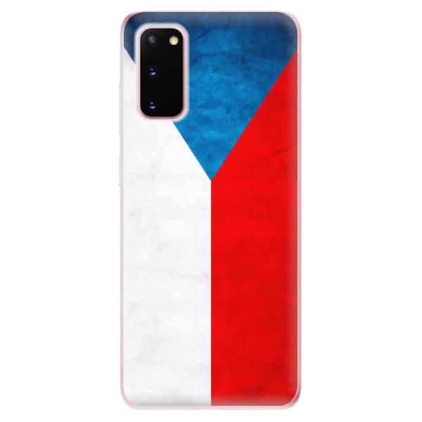 Odolné silikonové pouzdro iSaprio - Czech Flag - Samsung Galaxy S20