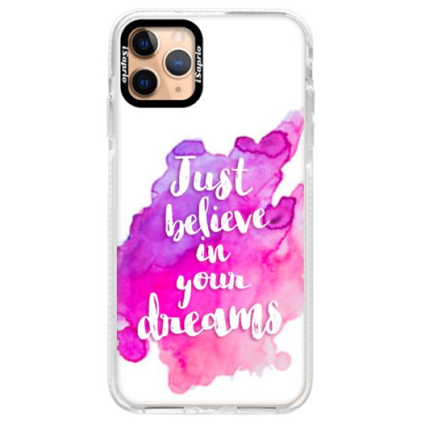 Silikonové pouzdro Bumper iSaprio - Believe - iPhone 11 Pro Max