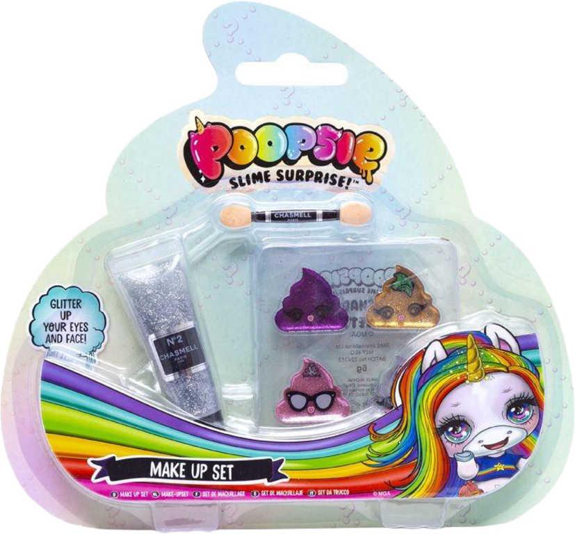 Poopsie slime surprise dětský make-up set oční stíny 4ks s doplňky blister