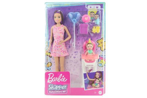 Barbie Chůva herní set - narozeniny GRP40