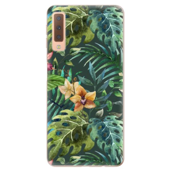 Odolné silikonové pouzdro iSaprio - Tropical Green 02 - Samsung Galaxy A7 (2018)