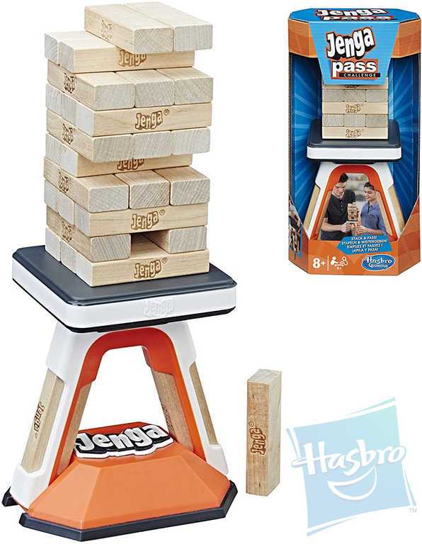 HASBRO Hra věž Jenga Pass Challenge 10 výzev *SPOLEČENSKÉ HRY*