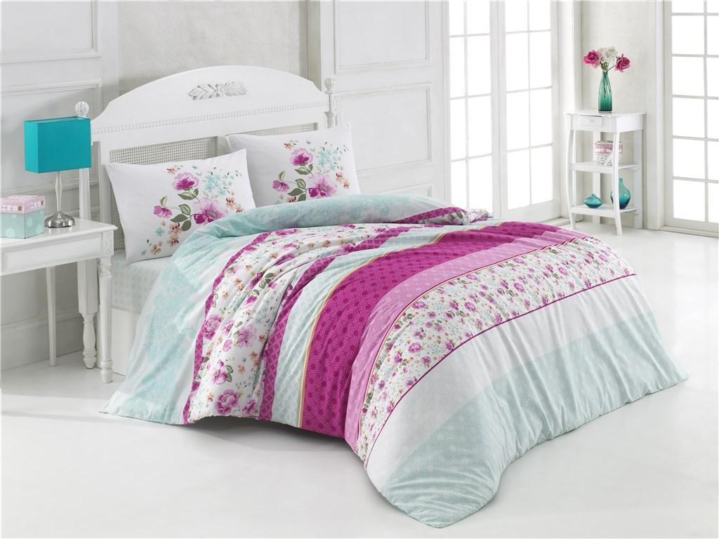 Povlečení francouzské bavlna 220x200,70x90 Debora lila, Výběr zapínání: