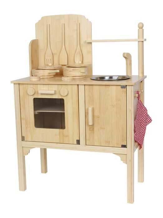 Small Foot Dětská dřevěná kuchyňka Nature