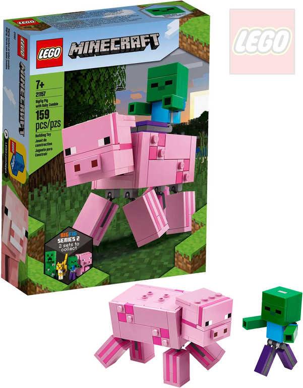 LEGO MINECRAFT Velká figurka Prase a malá zombie 21157 STAVEBNICE